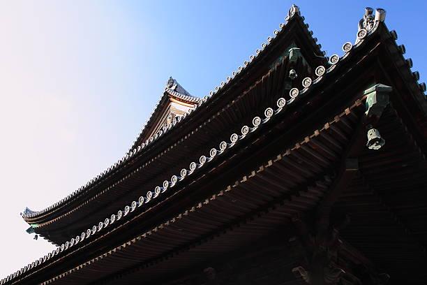 roof of tofuku-ji temple, historical buildings hondou in kyoto - 寺院 ストックフォトと画像