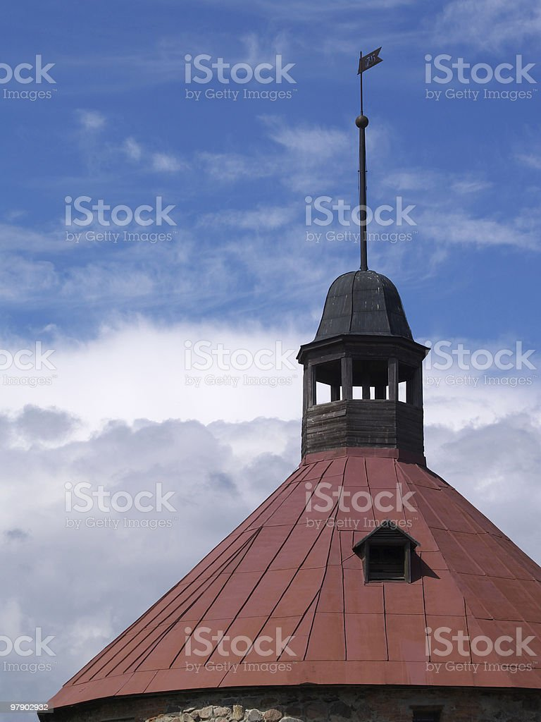 Roof of tower royalty-free stock photo