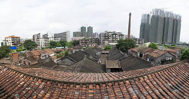 Dach der typischen traditionellen kantonesischen Häuser, Foshan China – Foto
