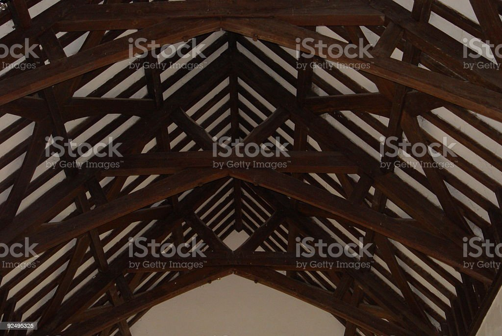 Roof of village church royalty-free stock photo