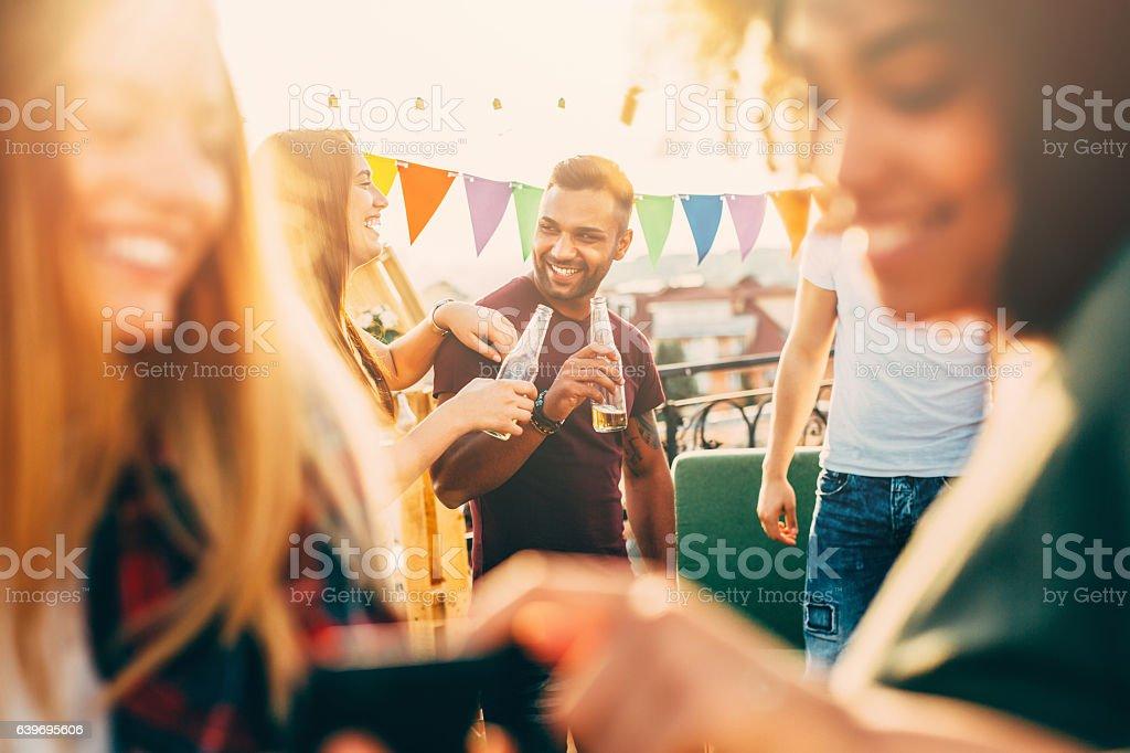 Roof Party - foto de stock