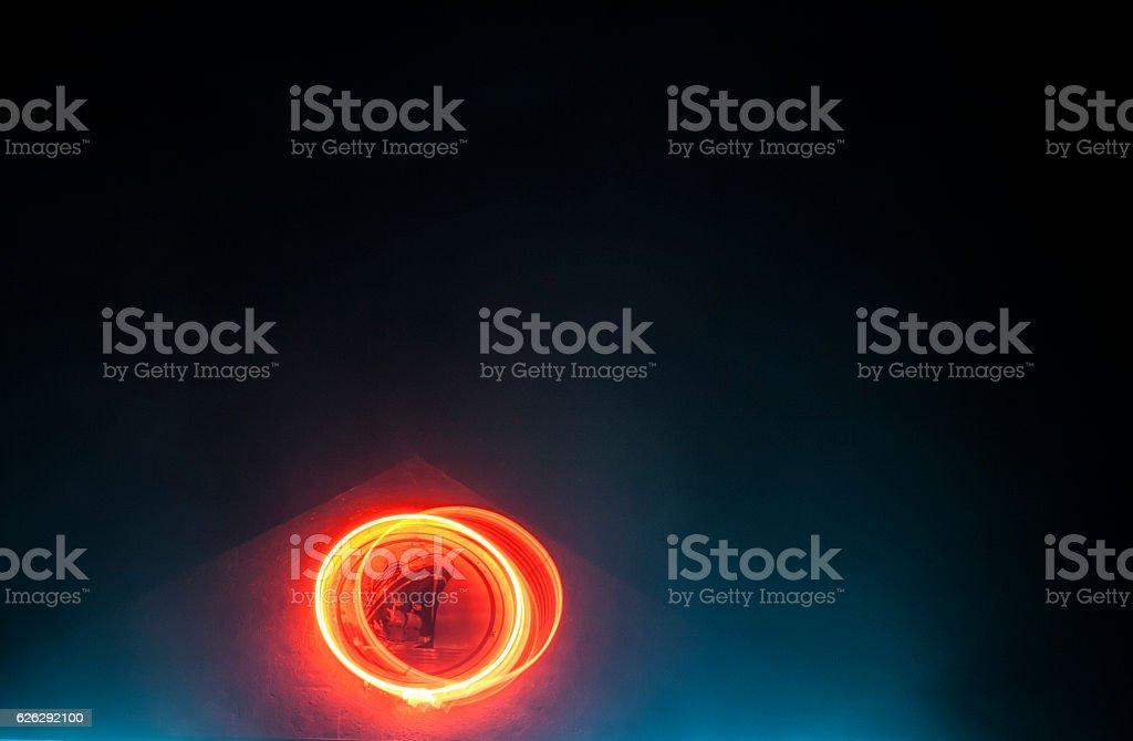 Roof Peak Glow stock photo