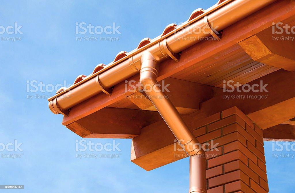 Auf dem Dach - Lizenzfrei Architektonische Säule Stock-Foto