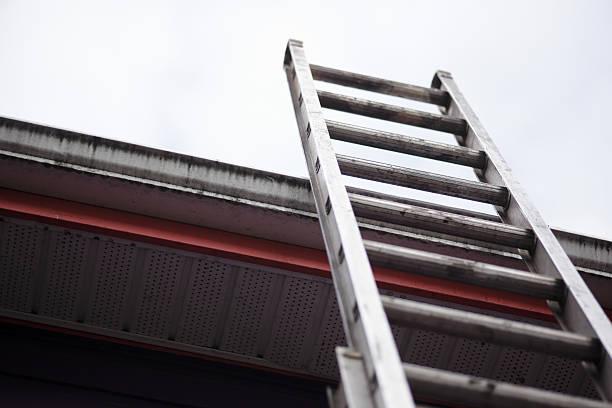 roof - ladder stockfoto's en -beelden