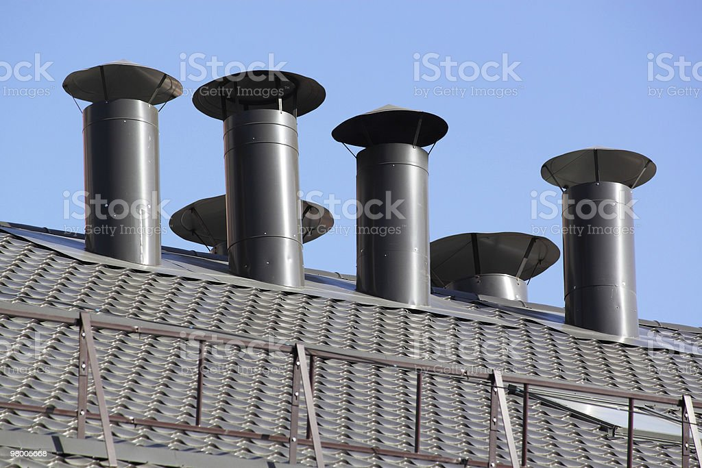 Roof pipe royalty-free stock photo