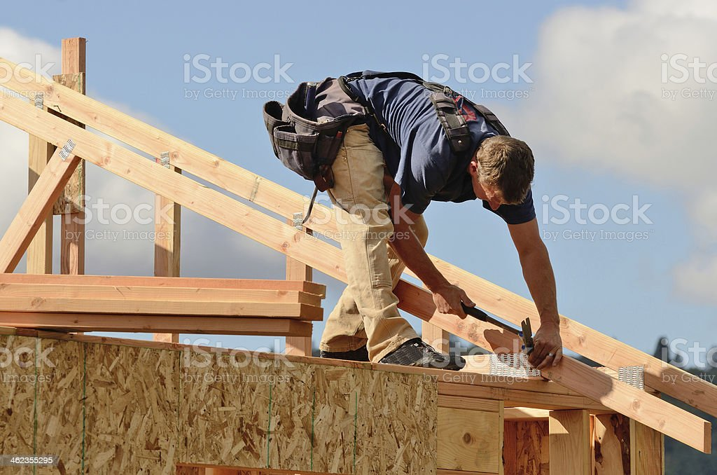 Roof Rafter stock photo