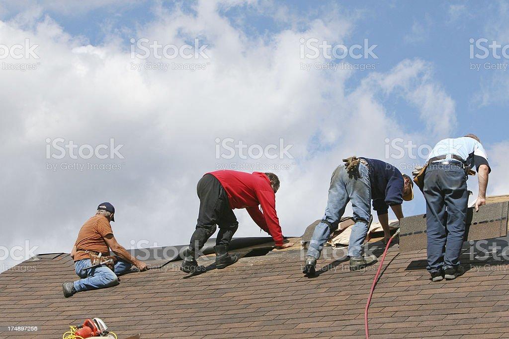 Roof renewal royalty-free stock photo