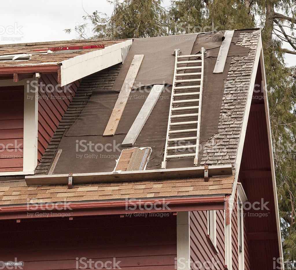 Roof Replacement royalty-free stock photo