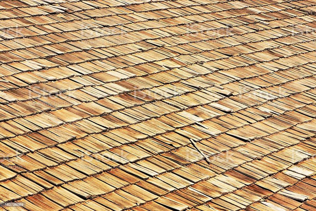 Roof Shingle Wooden Cedar Shakes royalty-free stock photo