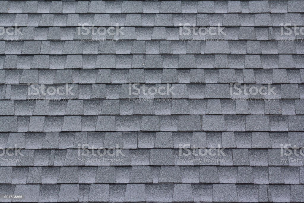 Roof shingles background and texture stock photo