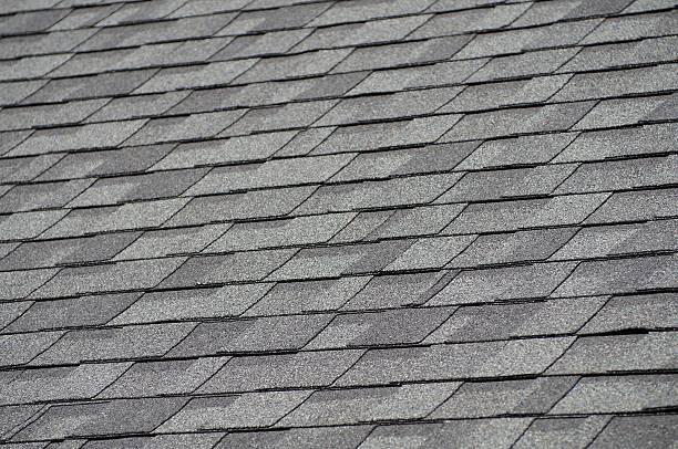 Roof Shingles stock photo
