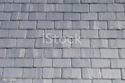 Close up pattern of roof slates.