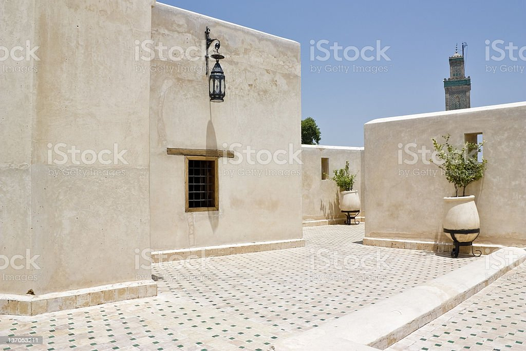 Roof terrace, Fes. stock photo