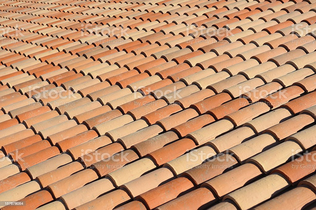 Roof Tile Pattern royalty-free stock photo