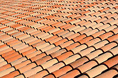 Roof tile pattern at French Riviera