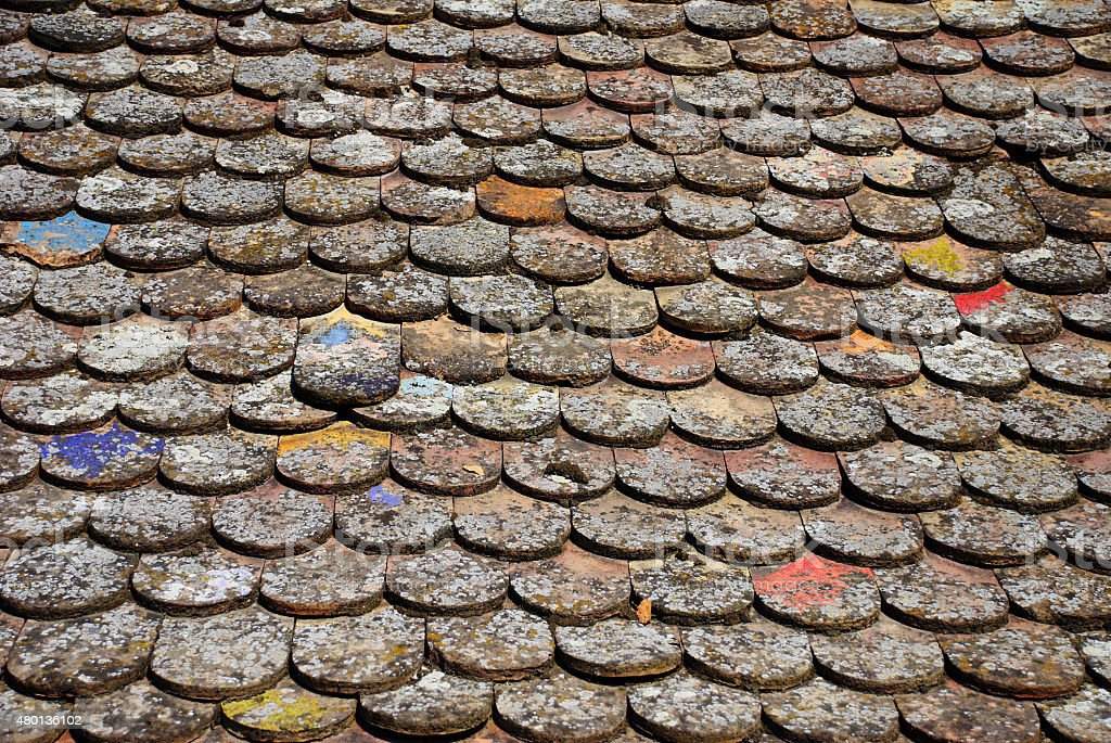 Roof tile pattern stock photo