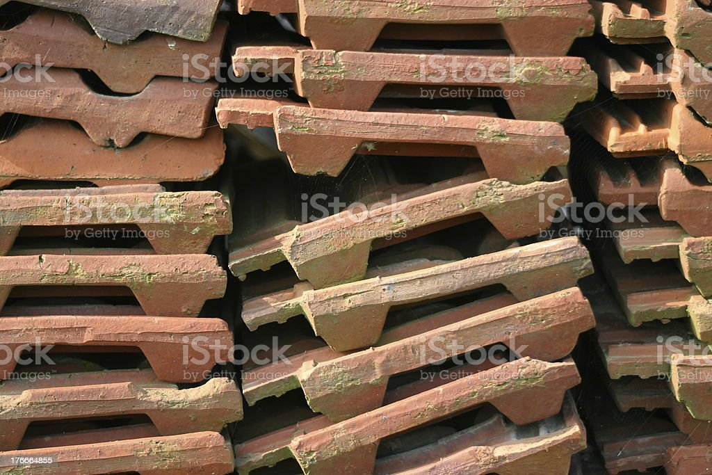 Roof tile stack royalty-free stock photo
