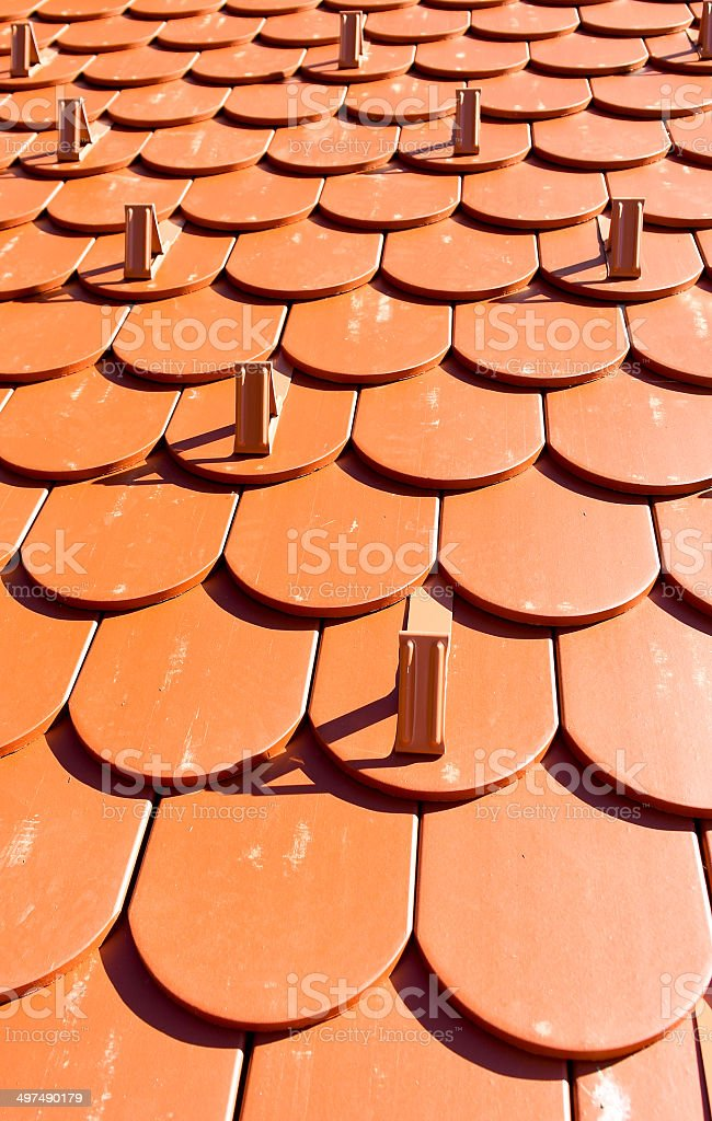Roof tiles background stock photo