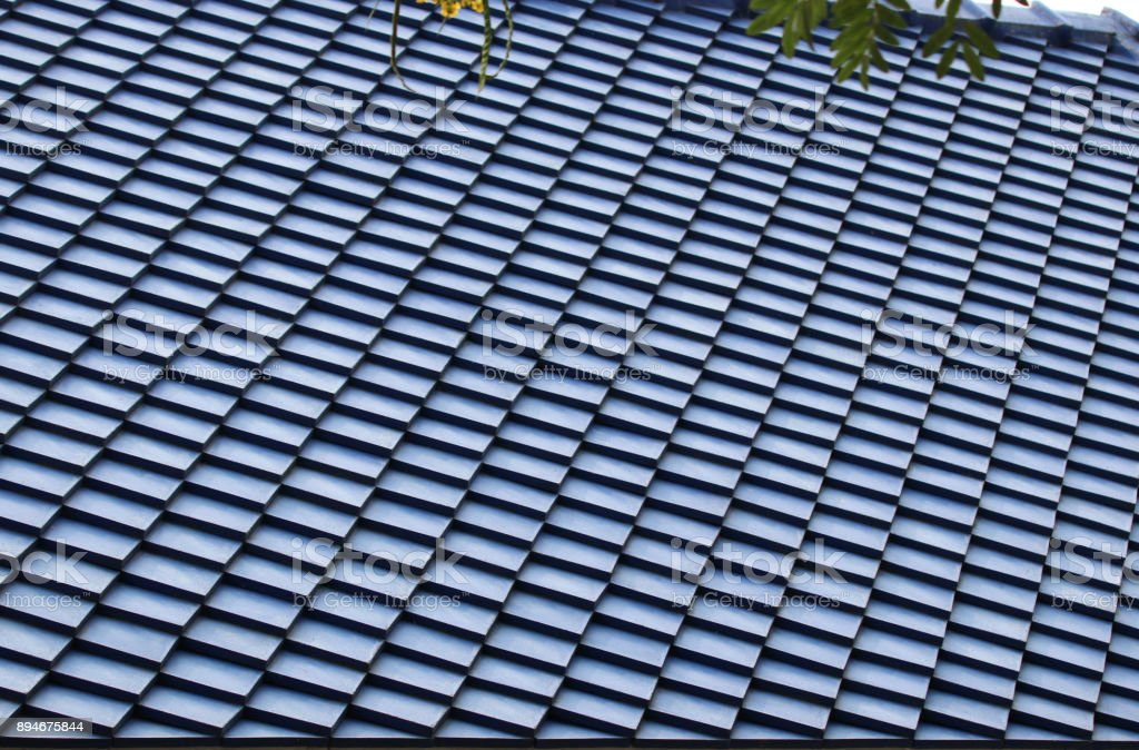 Roof Tiles Blue Color Background Pattern Construction Design Stock Photo Download Image Now Istock