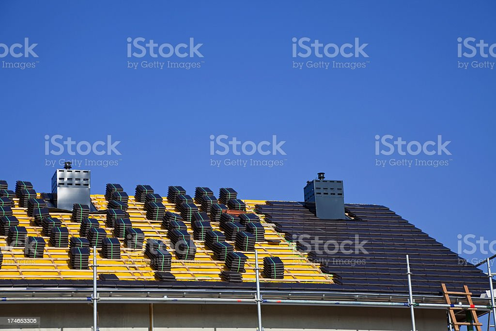 Roof tiles for new house XXXL royalty-free stock photo