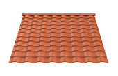 Roof Tiles Isolated
