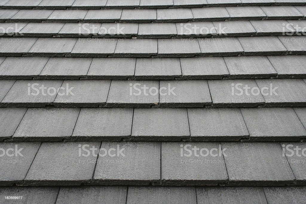 roof tiles or shingles stock photo