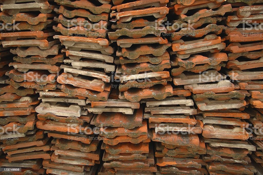 Roof tiles stacked royalty-free stock photo