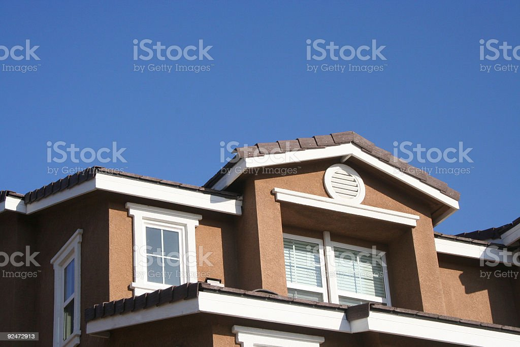 roof top and blue sky royalty-free stock photo