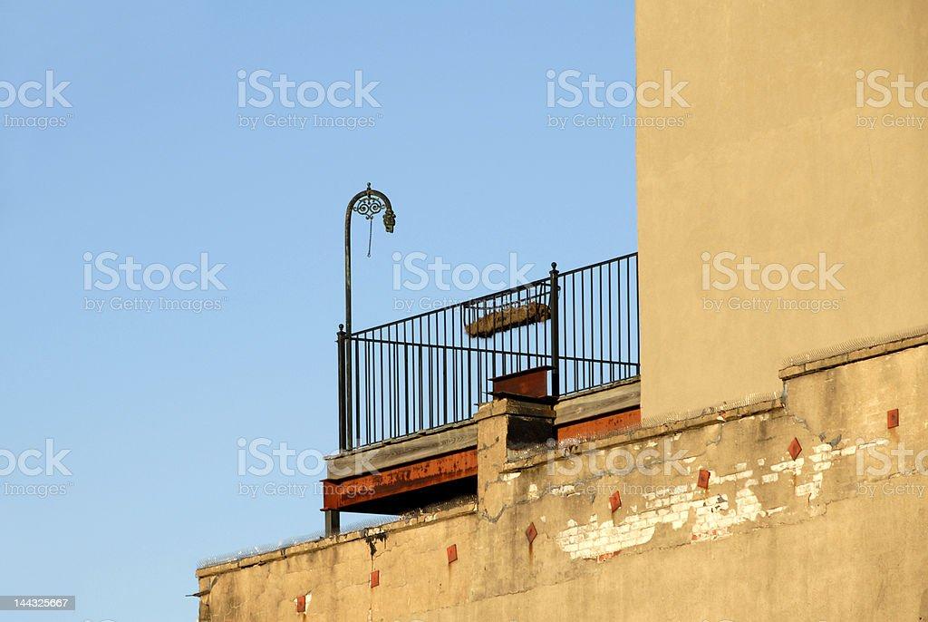 Roof Top Balcony royalty-free stock photo