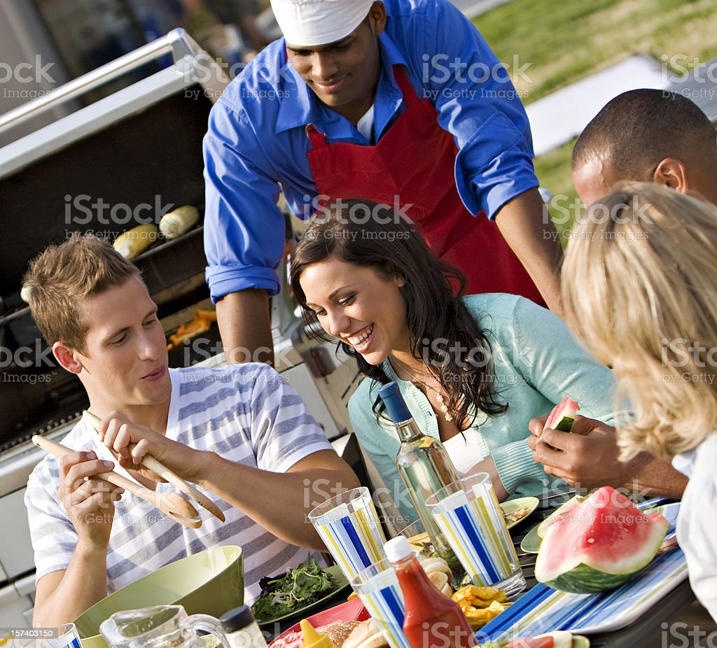 Roof Top BBQ stock photo