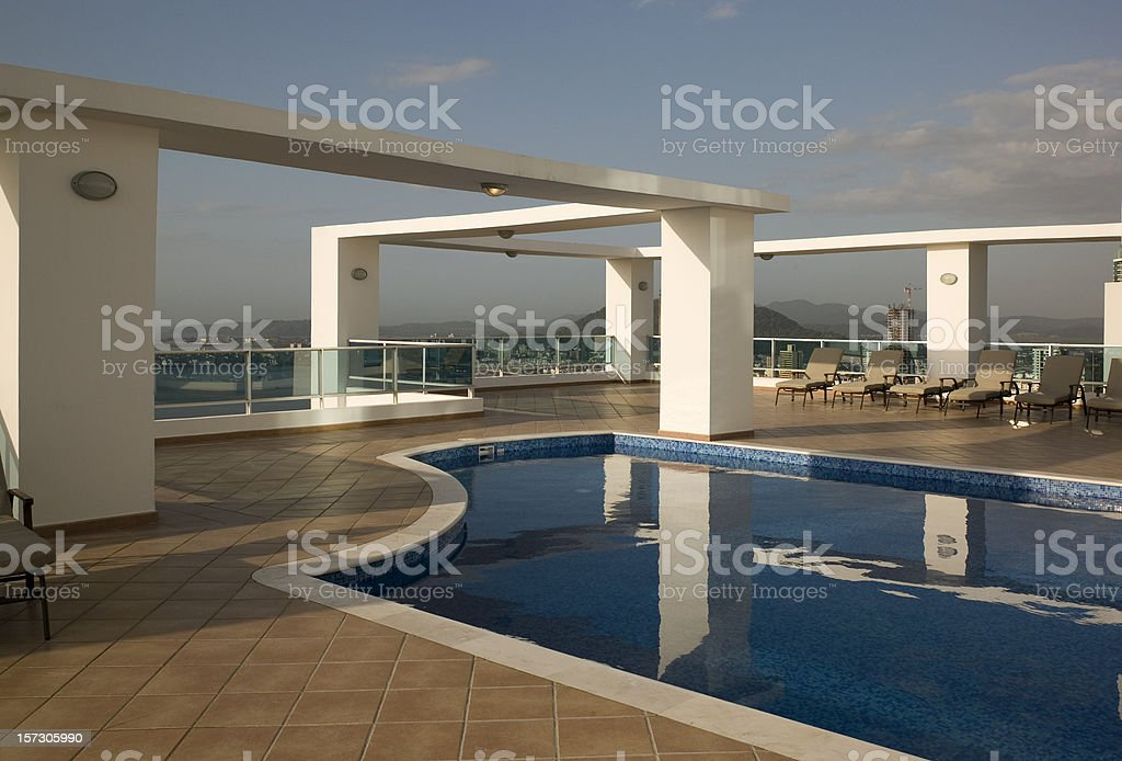 Roof Top Pool royalty-free stock photo