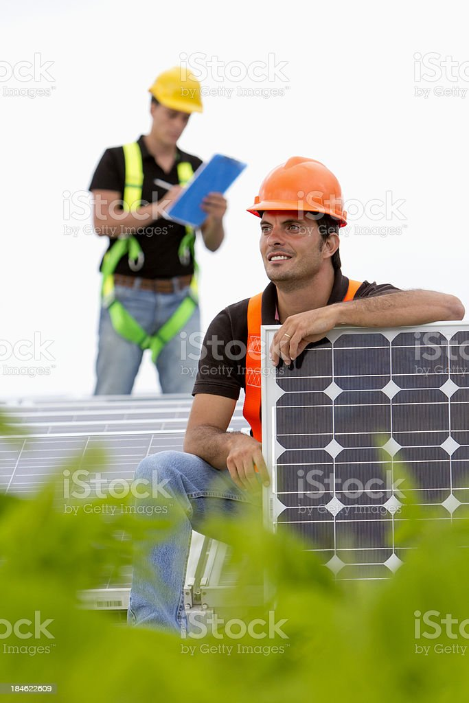 Roof top solar panels royalty-free stock photo