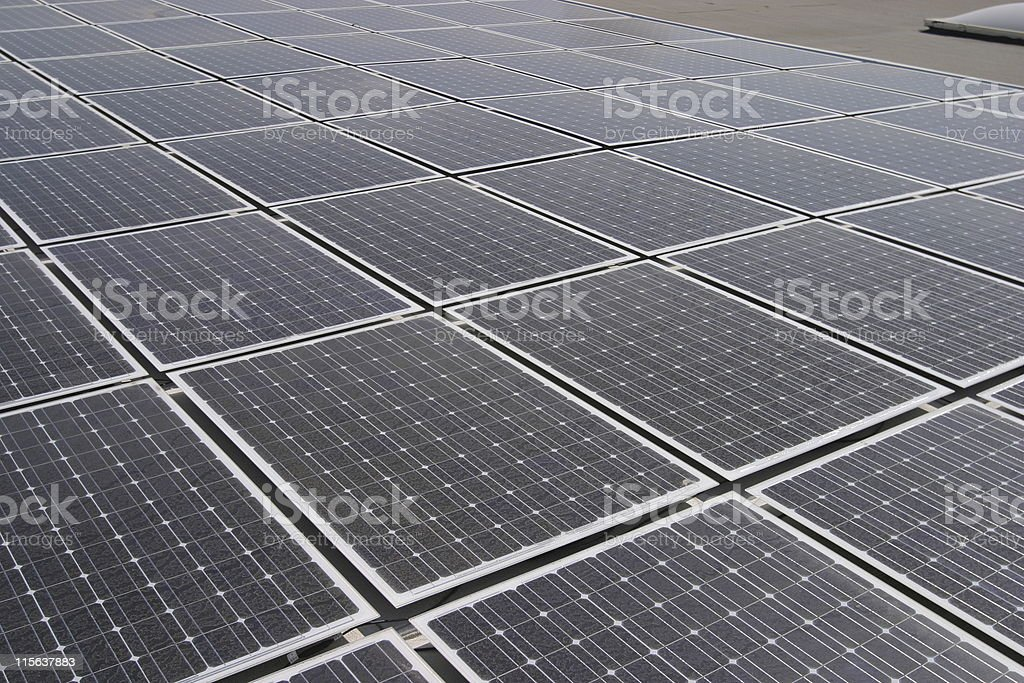 roof top solar panels wide royalty-free stock photo