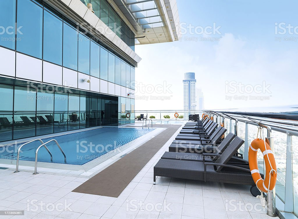roof top swimming pool royalty-free stock photo