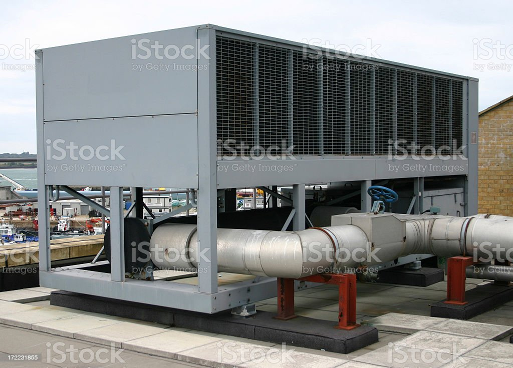 Roof Top Water Chiller Stock Photo Amp More Pictures Of Air