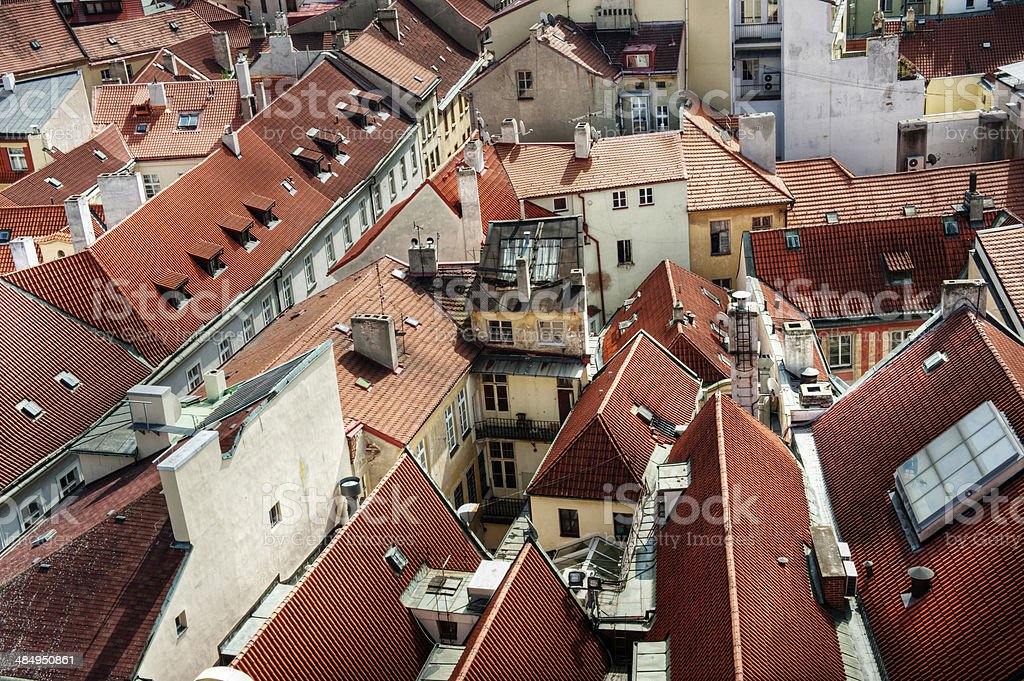 Roof tops of an ancient city stock photo