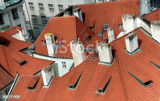 istock Roof tops of an ancient city 485111409