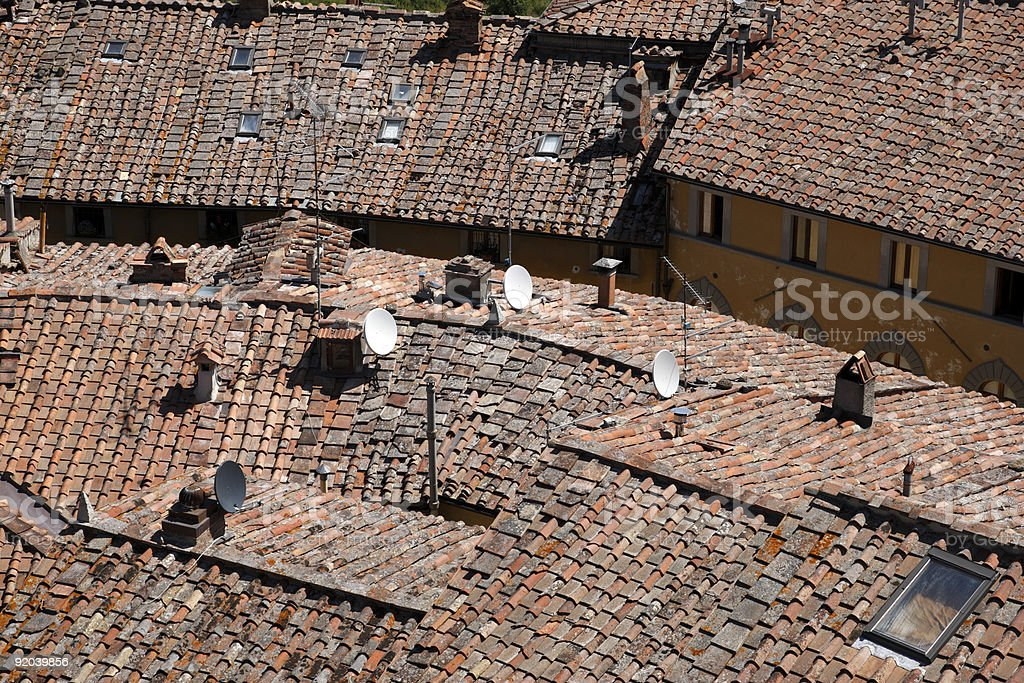 roof tops of castellina in chianti royalty-free stock photo