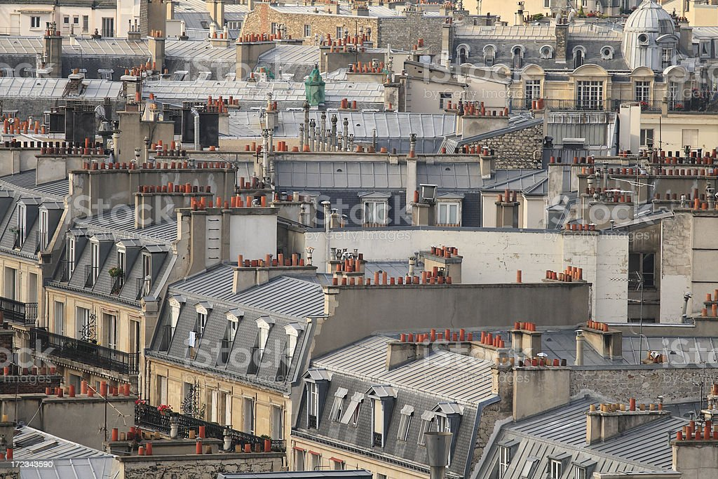 Roof Tops of Paris royalty-free stock photo