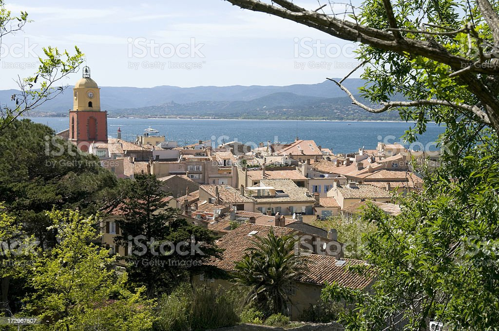 Roof tops of St Tropez royalty-free stock photo