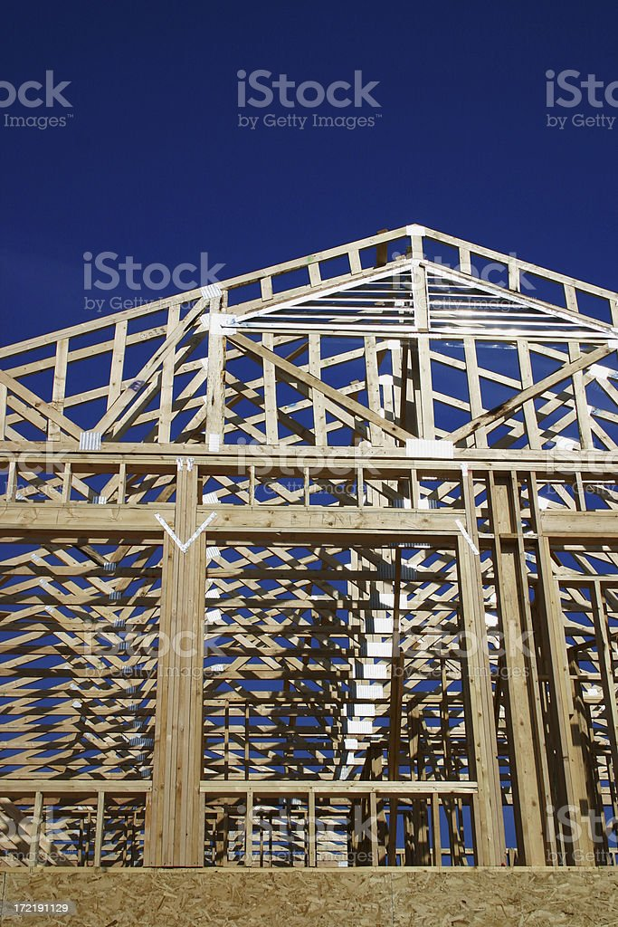 Roof under construction royalty-free stock photo