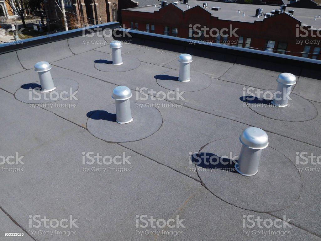 roof ventilation stock photo