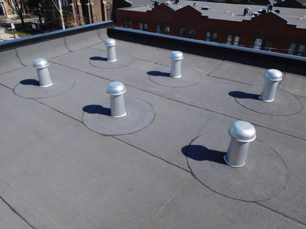 지붕 환기 스톡 사진