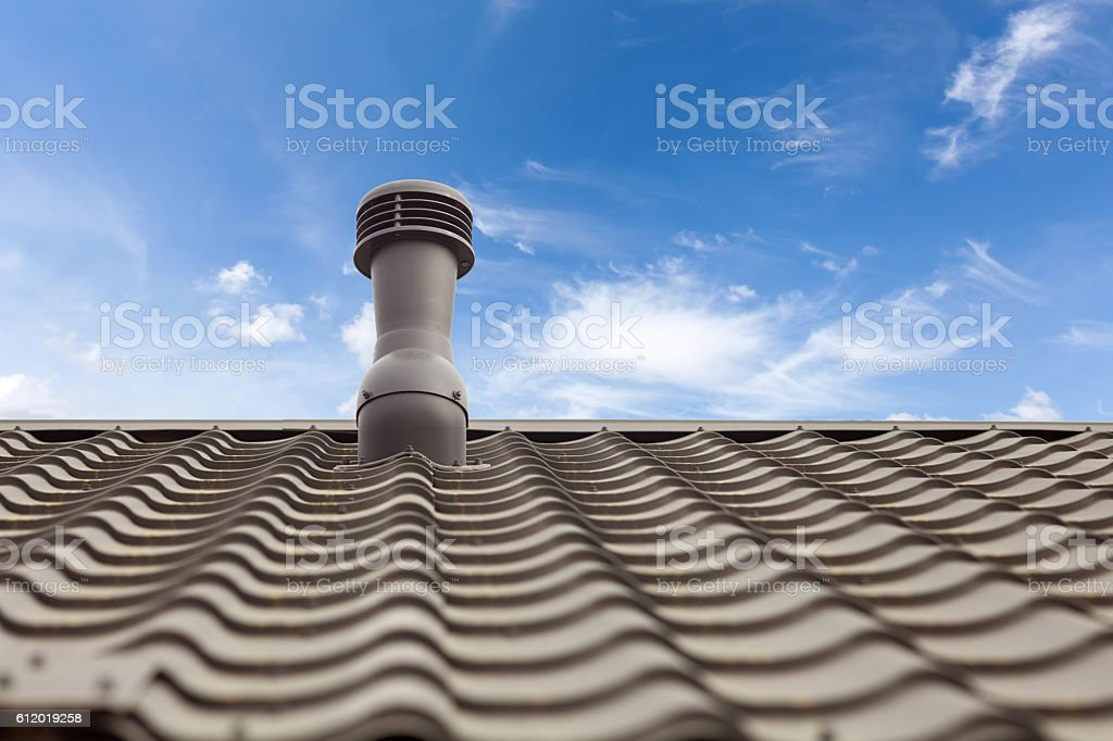 Roof ventilator for heat control stock photo