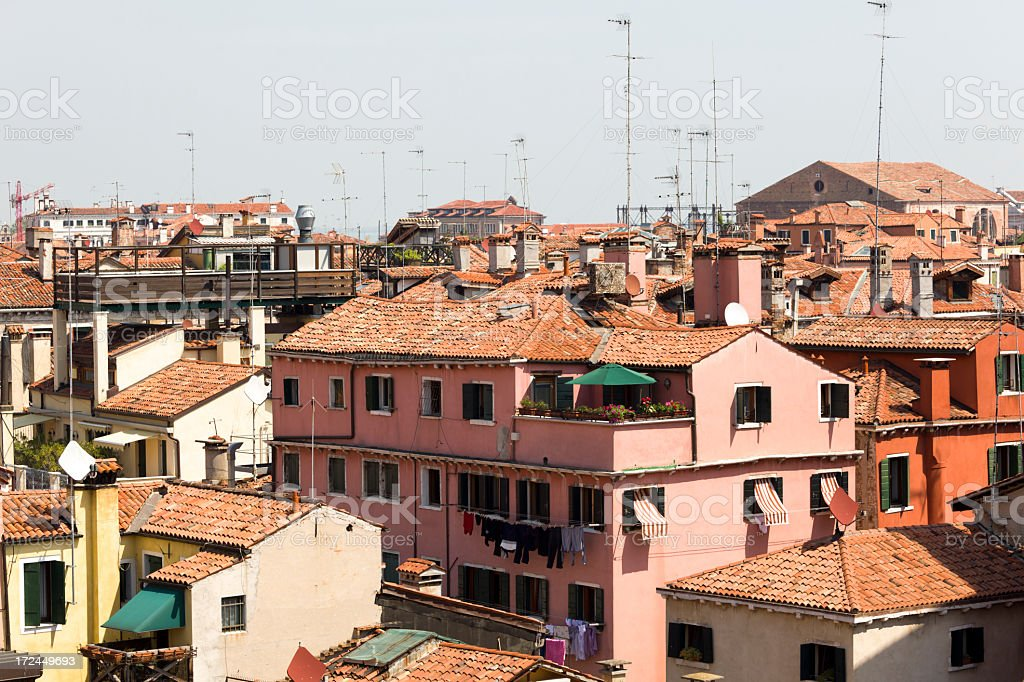 Roof view on Venice, Italy royalty-free stock photo