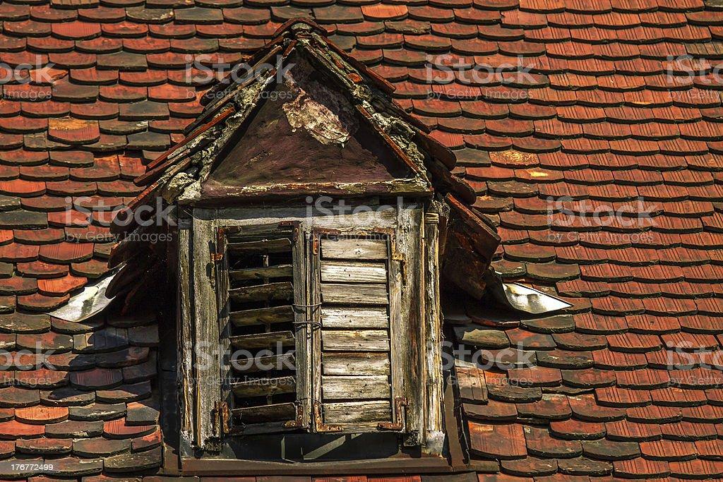 roof window royalty-free stock photo