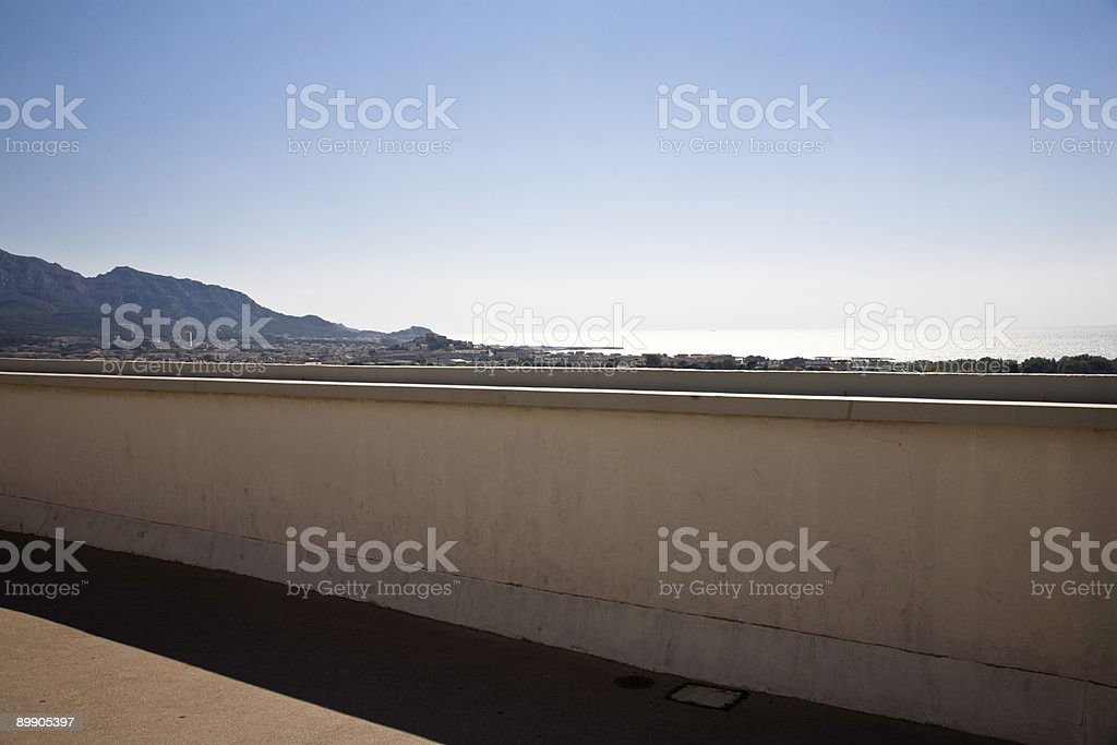 Roof with a View royalty-free stock photo