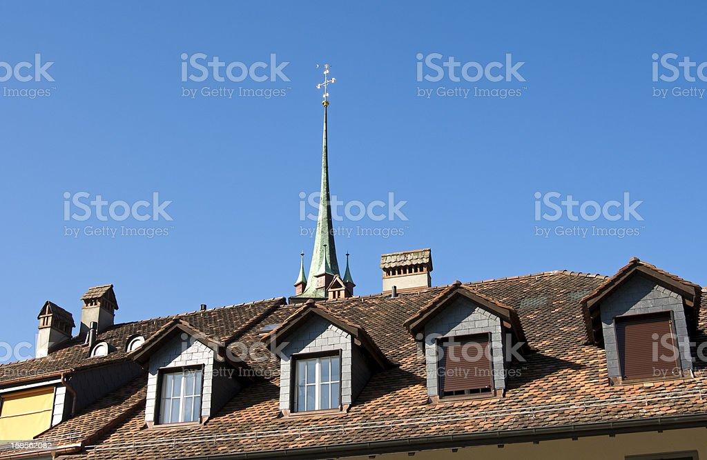 지붕, dormers royalty-free 스톡 사진