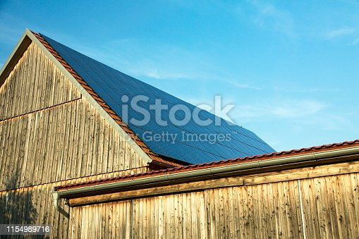 istock Roof with photovoltaic cells 1154989716