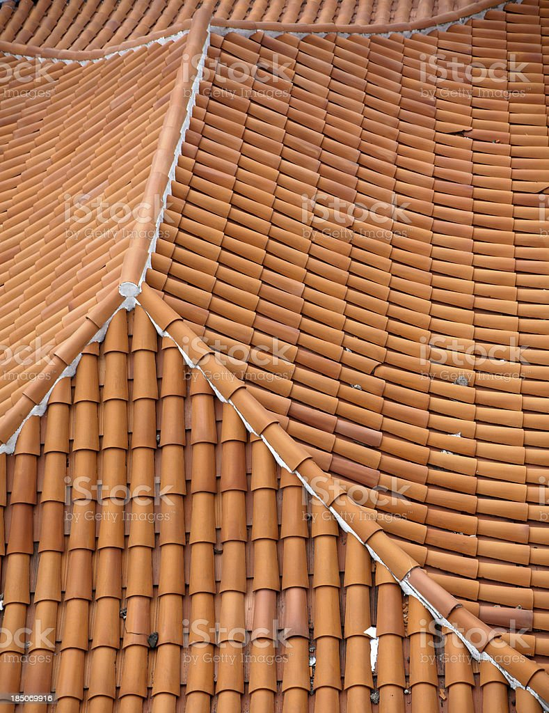 roof with red-orange tiles royalty-free stock photo